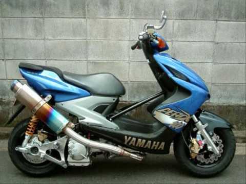 stoere scooter met tuning